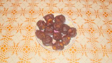 Bomboane de ciocolata cu mandarine
