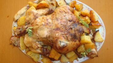 Carne de pui la cuptor cu cartofi