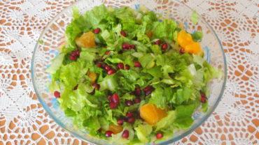 Salata verde cu portocala si rodie