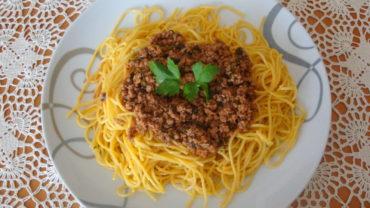 Spaghete cu carne tocata