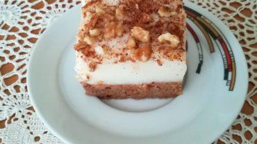 Prajitura insiropata cu nuci si crema alba de lapte sau « Putinka »