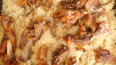 Miel la cuptor cu orez